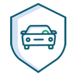 car within a shield icon