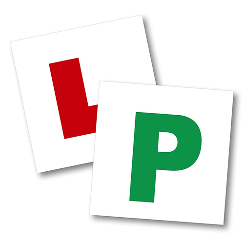 l plate and p plate